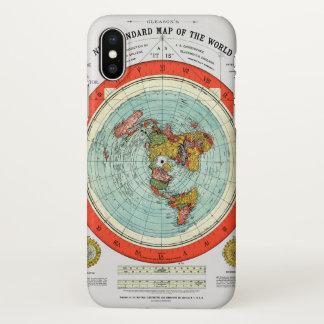 Capa Para iPhone X Mapa padrão novo da terra lisa Earther do mundo