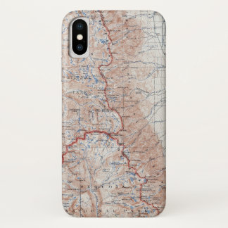 Capa Para iPhone X Mapa topográfico Califórnia de Mount Whitney do
