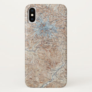 Capa Para iPhone X Mapa topográfico Washington do Monte Rainier do