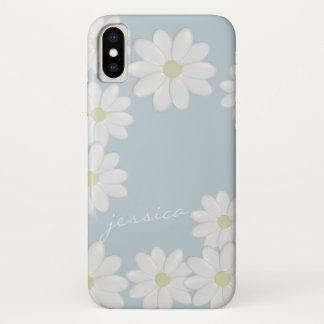 Capa Para iPhone X Margaridas da primavera do céu azul feitas sob