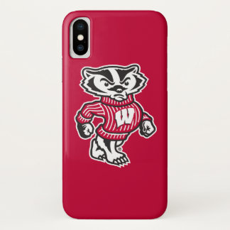 Capa Para iPhone X Mascote Bucky do texugo de Wisconsin |