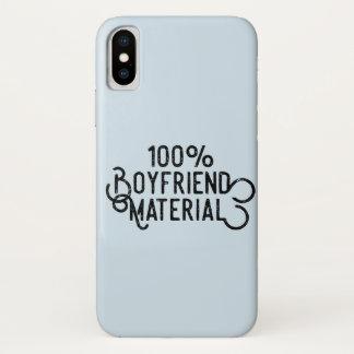Capa Para iPhone X Material 100% do namorado