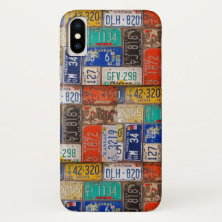 Capa Para iPhone X matrículas oxidadas retros