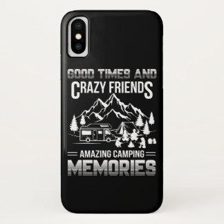 Capa Para iPhone X Memórias de acampamento do bom amigo louco das