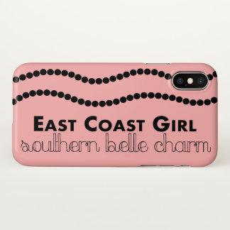 Capa Para iPhone X Menina da costa leste com encanto do sul do Belle