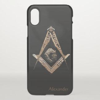 Capa Para iPhone X Mentes maçónicas (ouro)