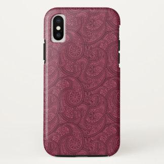 Capa Para iPhone X Merlot Paisley