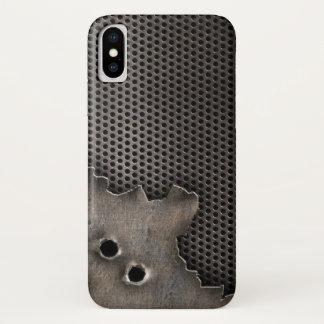 Capa Para iPhone X Metal com fundo dos buracos de bala