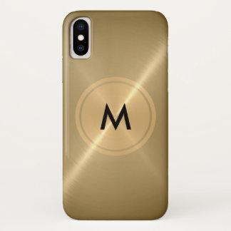 Capa Para iPhone X Metal de aço inoxidável do botão do ouro e o de