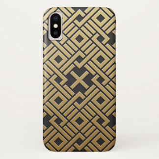 Capa Para iPhone X Metálico dourado geométrico