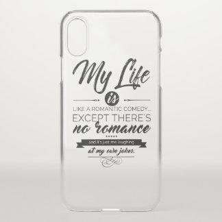 Capa Para iPhone X Minha vida é como uma comédia romântica