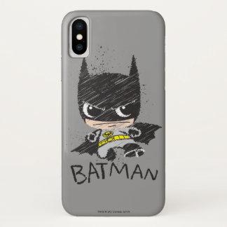Capa Para iPhone X Mini esboço clássico de Batman