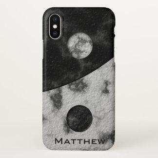 Capa Para iPhone X Modelo conhecido de mármore de Yin Yang