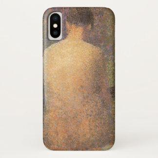 Capa Para iPhone X Modelo de de trás por Georges Seurat, arte do