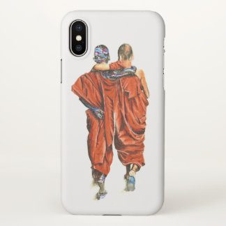 Capa Para iPhone X Monges budistas