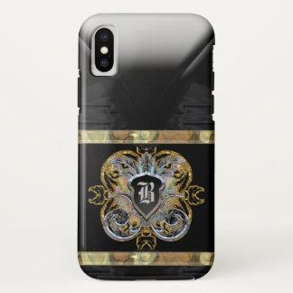 Capa Para iPhone X Monograma 10 romântico do tempo do cavaleiro