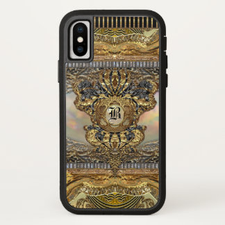 Capa Para iPhone X Monograma barroco elegante de Dashford Paddington