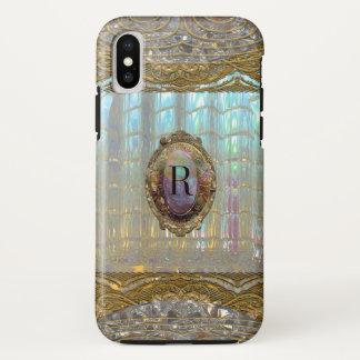 Capa Para iPhone X Monograma bonito barroco de Veraspeece