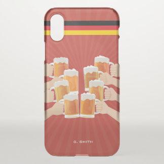 Capa Para iPhone X Monograma. Engraçado. Elogios para a cerveja!