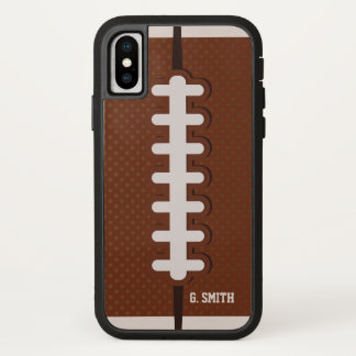 Capa Para iPhone X Monograma. Futebol Todo-Americano de domingo