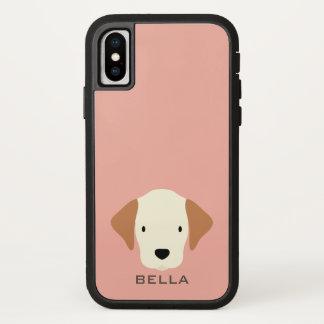 Capa Para iPhone X Monograma. Regra dos filhotes de cachorro! Cão de