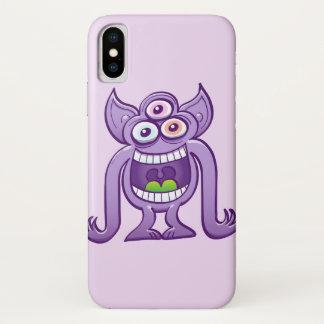 Capa Para iPhone X monstro estrangeiro Três-eyed que ri perniciosa