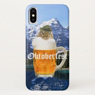 Capa Para iPhone X Montanhas bonitos de Oktoberfest do Chipmunk