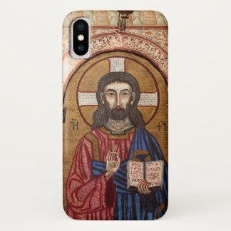 Capa Para iPhone X Mosaico antigo de Jesus
