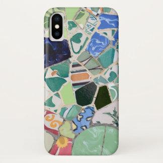 Capa Para iPhone X Mosaicos de Guell do parque