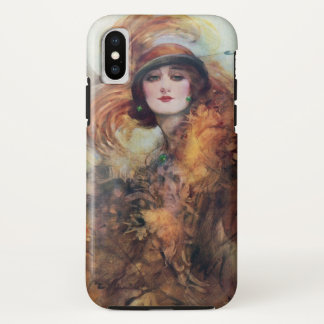 Capa Para iPhone X Mulher do Victorian