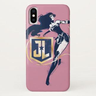 Capa Para iPhone X Mulher maravilha da liga de justiça | & de ícone