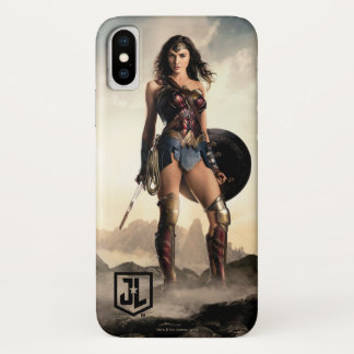 Capa Para iPhone X Mulher maravilha da liga de justiça | no campo de
