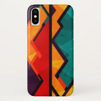 Capa Para iPhone X Multi design colorido africano do impressão do