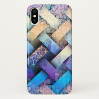 Capa Para iPhone X Multi design colorido do Weave de cesta