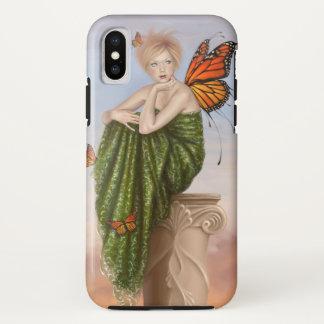 Capa Para iPhone X Nascer do sol - fada da borboleta de monarca