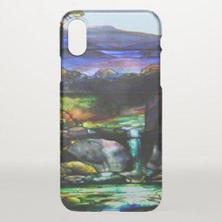 Capa Para iPhone X Natureza lindo do vidro da mancha das cores