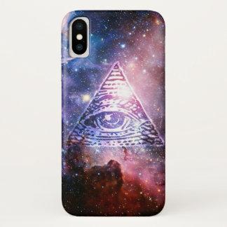 Capa Para iPhone X Nebulosa de Illuminati