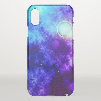 Capa Para iPhone X Nebulosa difusa e Supernova do espaço roxo