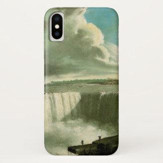 Capa Para iPhone X Niagara Falls da rocha da mesa por John Vanderlyn