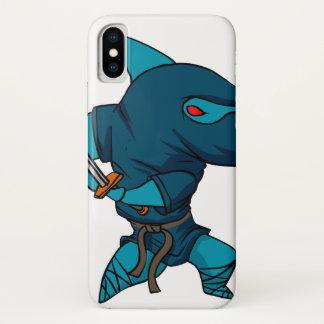 Capa Para iPhone X Ninja do tubarão