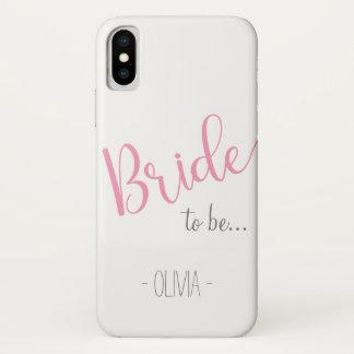 Capa Para iPhone X Noiva conhecida feita sob encomenda do iPhone a