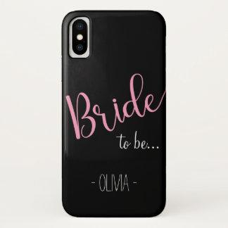 Capa Para iPhone X Noiva conhecida feita sob encomenda escura do