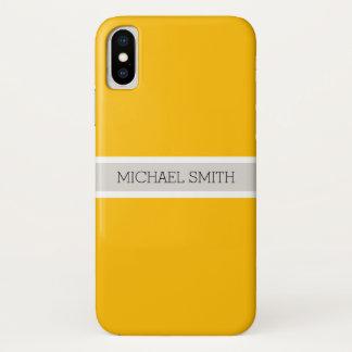 Capa Para iPhone X Nome elegante moderno do fundo ambarino liso