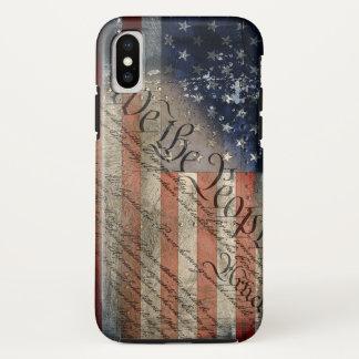 Capa Para iPhone X Nós do vintage da bandeira americana as pessoas do