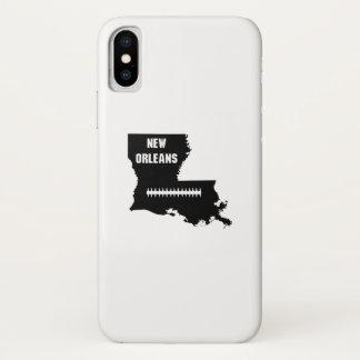 Capa Para iPhone X Nova Orleães Louisiana NENHUM futebol do mapa do