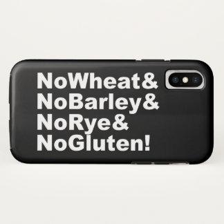 Capa Para iPhone X NoWheat&NoBarley&NoRye&NoGluten! (branco)