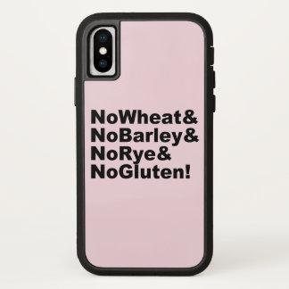 Capa Para iPhone X NoWheat&NoBarley&NoRye&NoGluten! (preto)