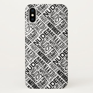 Capa Para iPhone X Nudista/naturista - a roupa livra palavras