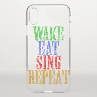 Capa Para iPhone X O acordar come canta a repetição