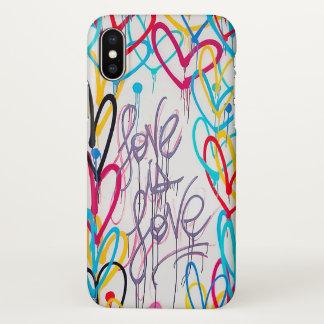 Capa Para iPhone X O amor é caso do iPhone X do amor